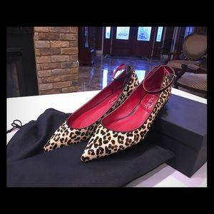 Shoes of Prey Pointy toe Flats Leopard Calf hair